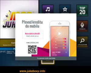 Popup obrazovky jukeboxu