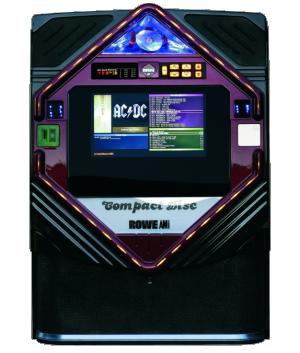 MP3 jukebox Diamant mobilní na kolečkách ovládaný z displeje mobilu