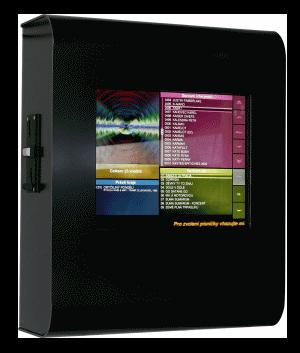 Nástěnný jukebox s dotykovou obrazovkou ovládaný mobilem - černý