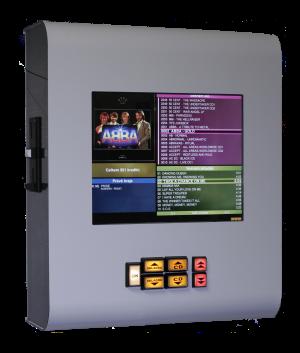 Nástěnný jukebox s dotykovou obrazovkou ovládaný mobilem - bílý
